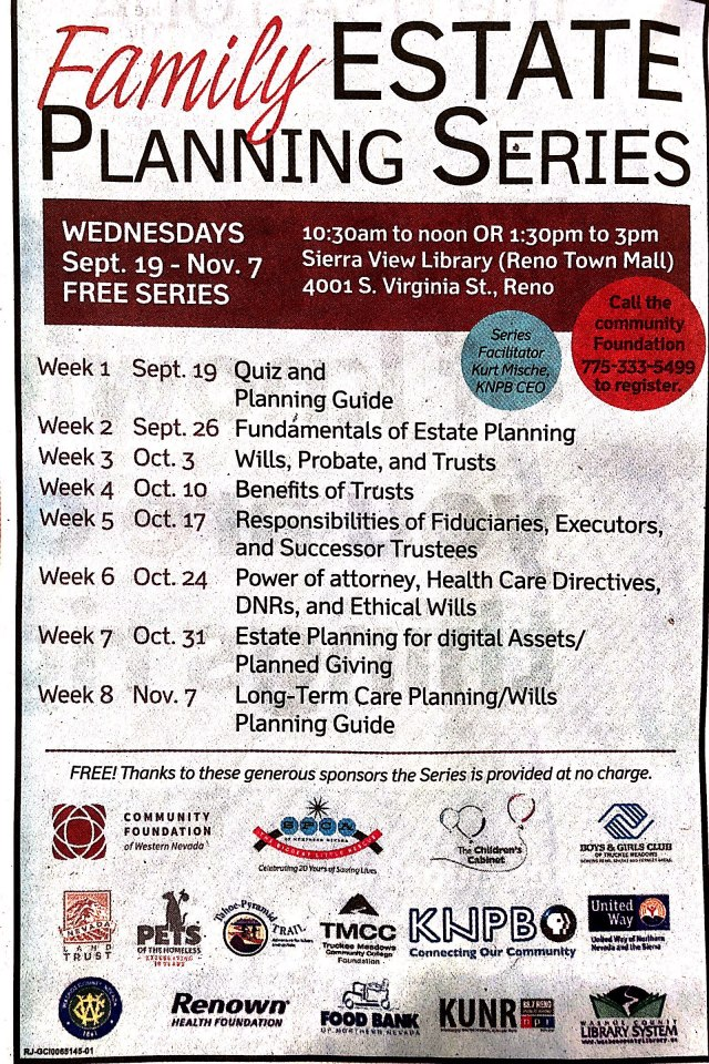 2018 Family Estate Planning Series